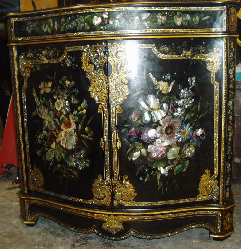 Meuble d 39 appui second empire conservation restauration for Meuble style napoleon 3