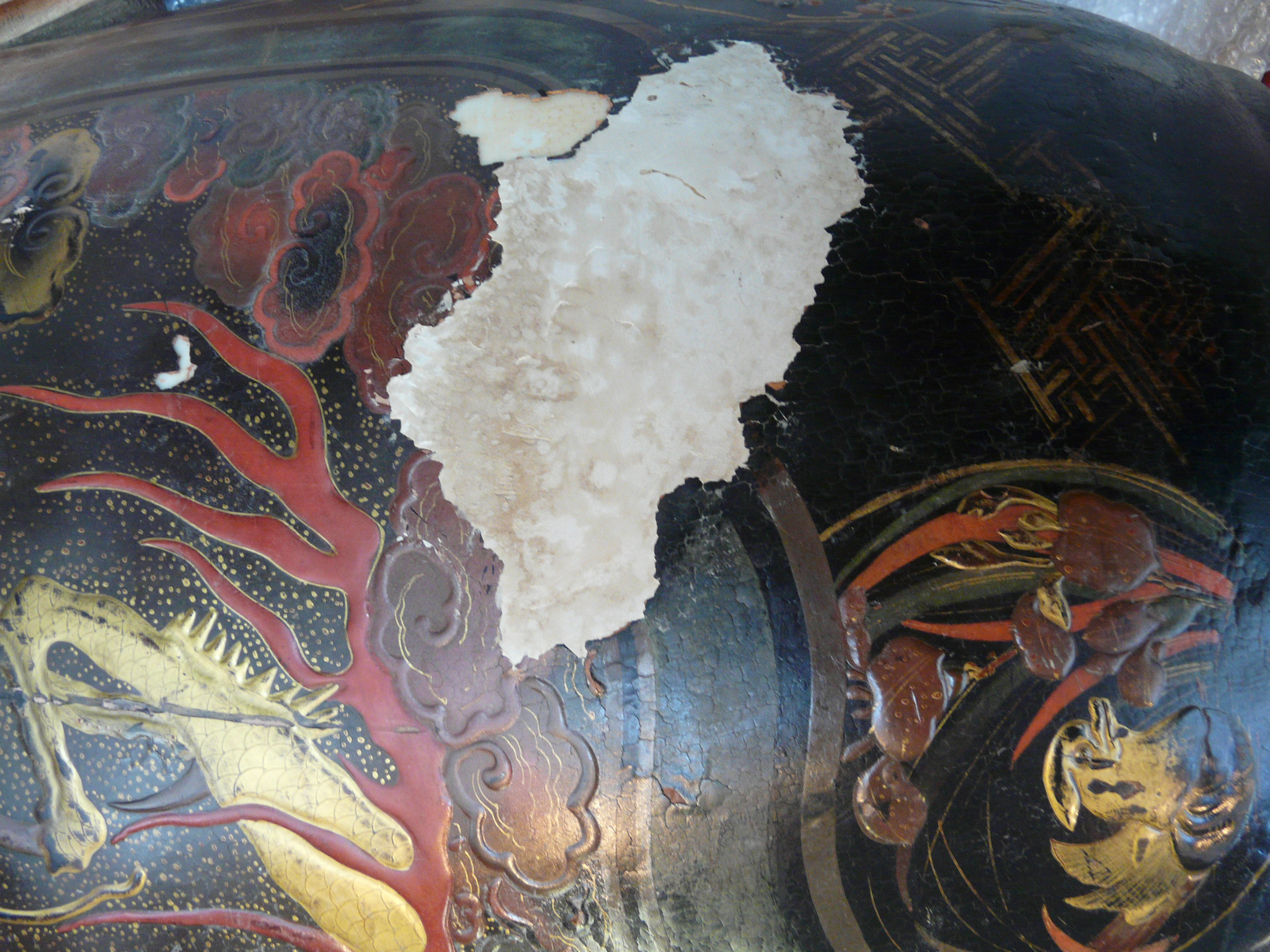 Vase en laque du Japon